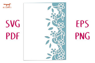 Entwined Flower Lace Edged Card SVG Cut Graphic 3D SVG By Nic Squirrell