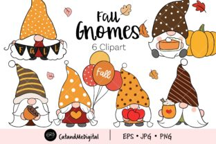 Fall Gnomes Clipart Graphic Illustrations By CatAndMe