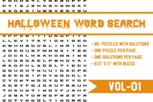 Print on Demand: Halloween Word Search Puzzle Vol. 01 Graphic KDP Interiors By Md Ismail Hossain