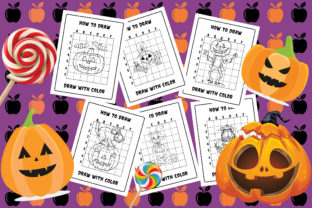 How to Draw 50 Halloween Coloring V1 Graphic Coloring Pages & Books Kids By Moonz Coloring