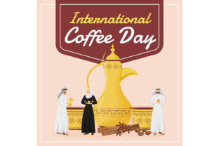 Print on Demand: International Coffee Day Social Media Graphic Graphic Templates By natalia1891991
