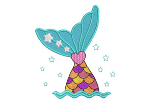 Mermaid Tail Bed & Bath Embroidery Design By Canada Crafts Studio
