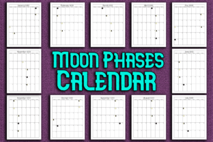 Print on Demand: Moon Phases Calendar 2022 Graphic KDP Interiors By Mary's Designs