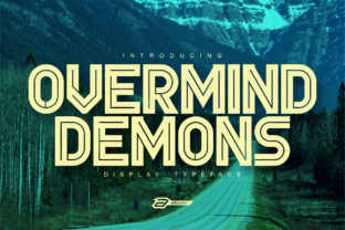Print on Demand: Overmind Demons Display Font By asf-graphics