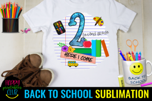 Second Grade Back to School Sublimation Graphic Illustrations By Happy Printables Club