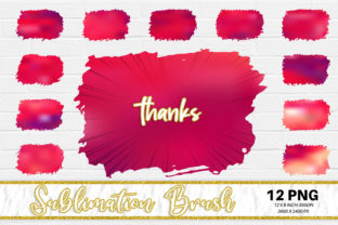 Sublimation Brush, Red Color Graphic Backgrounds By Artnoy