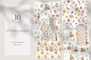 Print on Demand: Watercolor Nursery Fall Seamless Pattern Graphic Patterns By Tiana Geo