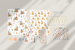 Print on Demand: Watercolor Nursery Fall Seamless Pattern Graphic Patterns By Tiana Geo 3