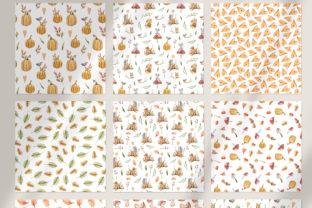 Print on Demand: Watercolor Nursery Fall Seamless Pattern Graphic Patterns By Tiana Geo 4