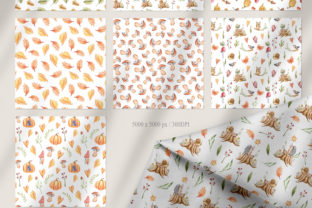 Print on Demand: Watercolor Nursery Fall Seamless Pattern Graphic Patterns By Tiana Geo 5