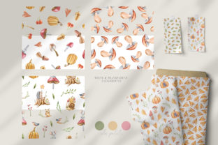 Print on Demand: Watercolor Nursery Fall Seamless Pattern Graphic Patterns By Tiana Geo 6