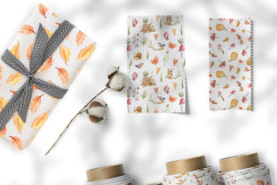 Print on Demand: Watercolor Nursery Fall Seamless Pattern Graphic Patterns By Tiana Geo 8