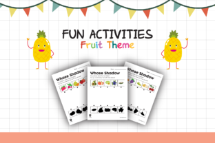 Worksheet Fruit Whose Shadow for Kids Graphic K By materialforkidsid