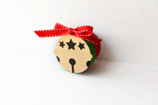 Christmas Sleigh Bell Round Gift Box SVG Graphic 3D Christmas By RisaRocksIt
