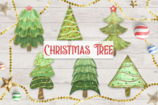 Print on Demand: Christmas Tree Clipart Graphic Illustrations By PinkPearly