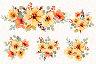 Print on Demand: Digital Clipart Watercolor Flower Part48 Graphic Illustrations By asrulaqroni