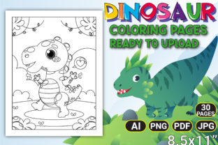 Print on Demand: Dinosaur Coloring Pages for Kids Graphic Coloring Pages & Books Kids By KDP STORE