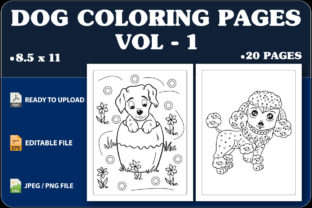 Dog Coloring Pages for Kids  Vol.1 Graphic Coloring Pages & Books Kids By triggeredit