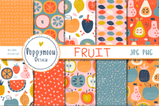 Print on Demand: Fruit Paper Set Graphic Patterns By poppymoondesign
