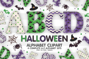 Print on Demand: Halloween Alphabet Letters Sublimation Graphic Illustrations By GoodsCute