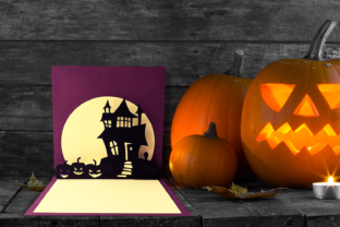 Halloween Haunted House Pop Up Card SVG Graphic 3D Houses By RisaRocksIt
