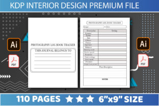 Print on Demand: KDP INTERIORS PHOTOGRAPHY LOG BOOK Graphic KDP Interiors By DETEAM