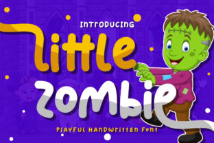 Print on Demand: Little Zombie Display Font By Typerex