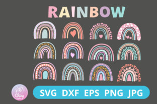 Rainbow SVG, Rainbow Cut File, PNG File Graphic 3D SVG By Chingcreative