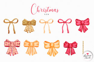 Print on Demand: Red and Gold Glitter Christmas Ball Graphic Illustrations By Chonnieartwork 3