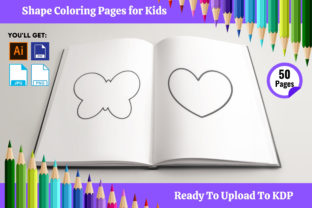 Print on Demand: Shape Coloring Book Interior for Kids Graphic Coloring Pages & Books Kids By Infinite Desings