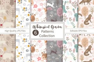 Print on Demand: Whimsical Garden Patterns Collection Graphic Patterns By DrawStudio1988