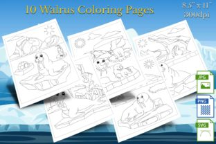 Print on Demand: 10 Walrus Coloring Pages Graphic Coloring Pages & Books By Webmark
