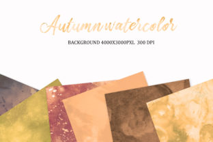 Print on Demand: Autumn Watercolor, Background, Autumn Graphic Backgrounds By The Rose Mind 2