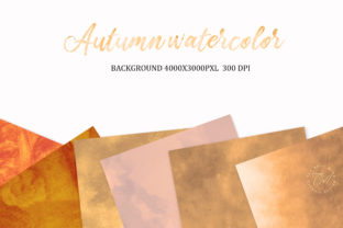Print on Demand: Autumn Watercolor, Background, Autumn Graphic Backgrounds By The Rose Mind 3