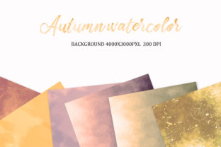 Print on Demand: Autumn Watercolor, Background, Autumn Graphic Backgrounds By The Rose Mind 4