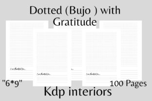 Dotted Kdp Interiors Bujo with Gratitude Graphic KDP Interiors By flovin design