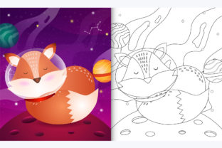 Fox Space 4 - Coloring Page Graphic Teaching Materials By wijayariko