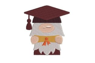 Graduation Gnome Graduation Embroidery Design By Embroidery Designs