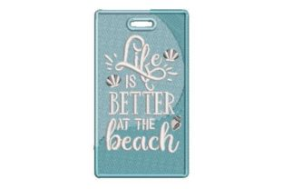 Life is Better at the Beach Beach & Nautical Embroidery Design By Embroidery Designs