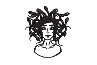 Medusa Halloween Embroidery Design By Embroidery Designs