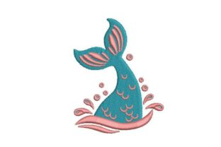 Mermaid Tail Coming out Fairy Tales Embroidery Design By Embroidery Designs