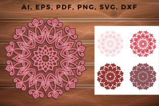 Print on Demand: Multi Layer Mandala, 3d Svg, Cut File Graphic 3D SVG By NGISED