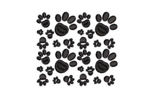 Paw Print Dogs Embroidery Design By Embroidery Designs
