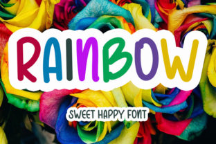 Print on Demand: Rainbow Display Font By NYA Letter