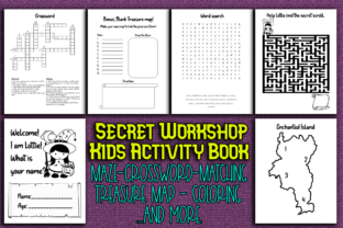 Print on Demand: Secret Workshop Activity Book for Kids Graphic KDP Interiors By Mary's Designs