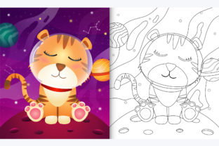 Tiger Space 3 - Coloring Page Graphic Coloring Pages & Books By wijayariko