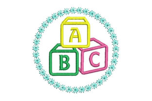 ABC Letter Applique Babies & Kids Embroidery Design By Embroiderypacks