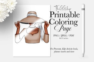Print on Demand: Adult Fashion Girl Coloring KDP Page Graphic Coloring Pages & Books Adults By TheGGShop