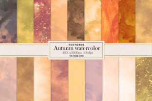 Print on Demand: Autumn Watercolor, Background, Autumn Graphic Backgrounds By The Rose Mind