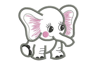 Baby Elephant Baby Animals Embroidery Design By Embroiderypacks